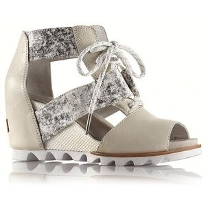 Sorel Joanie lace wedge sandals
